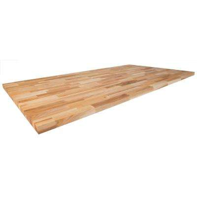 74 in. x 39 in. x 1.5 in. Wood Butcher Block Island Top in Unfinished Ash
