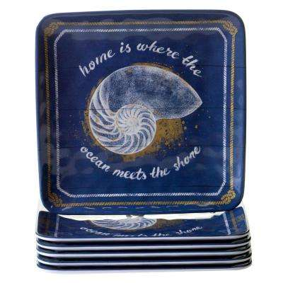 Calm Seas 6-Piece Salad Plate Set