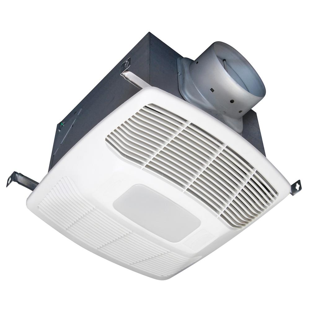 White 150 CFM Single Speed Humidity Sensing 0.6 Sone Ceiling Exhaust