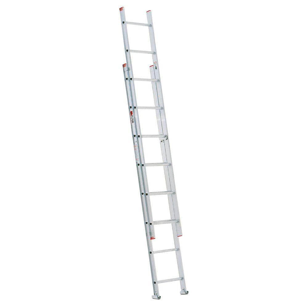 16 ft. Aluminum D-Rung Extension Ladder with 200 lb. Load Capacity