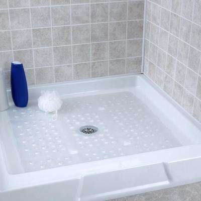 27 in. x 27 in. Extra Large Square Shower Mat in White Pearl