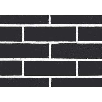 Brick Black Wall Adhesive Film (Set of 2)