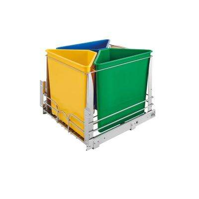 20.25 in. H x 20 in. W x 22.25 in. D Multi-Color Three Bin Recycling Center with Soft-Close Slides