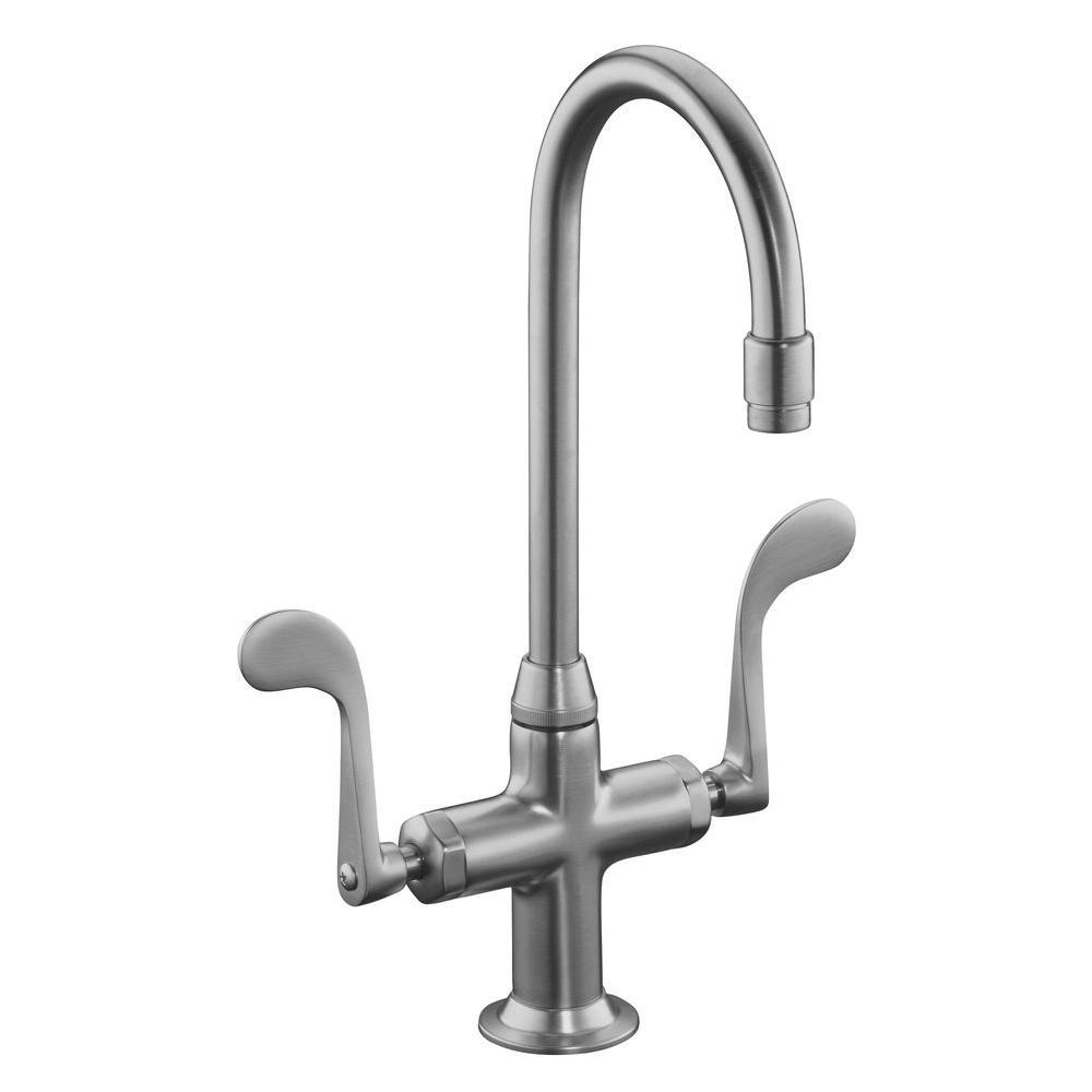 KOHLER Essex 1 or 3-Hole 2-Handle Bar Faucet in Brushed Chrome