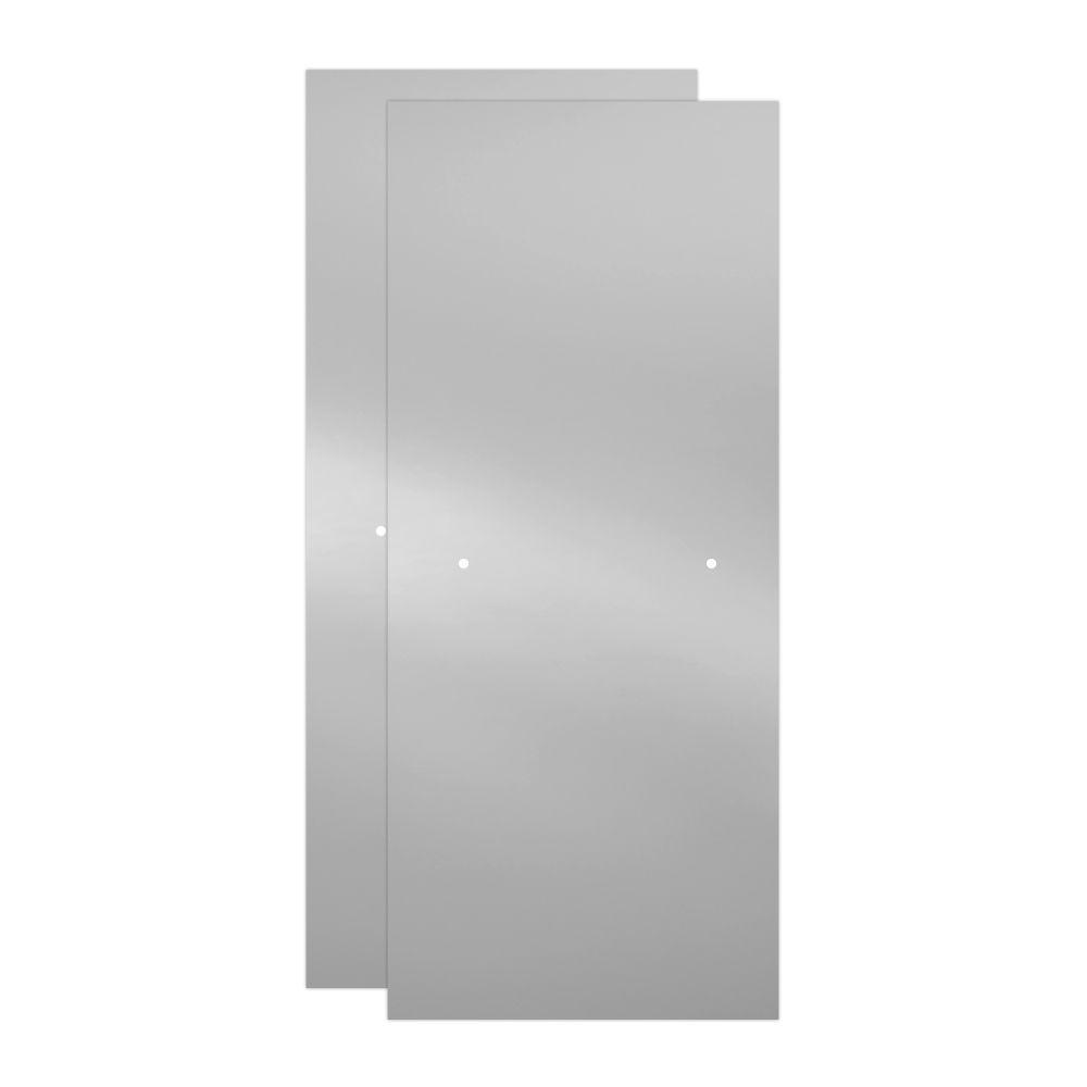 29-1/32 in. x 67-3/4 in. x 3/8 in. Frameless Sliding Shower Door Glass Panels in Clear (1-Pair for 50-60 in. Doors)