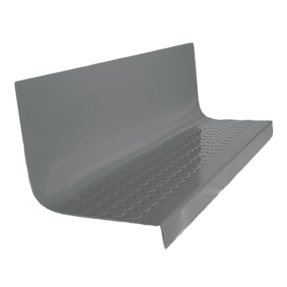 Vantage Circular Profile Dark Gray 20.4 in. x 48 in. Rubber Square Nose Stair Tread