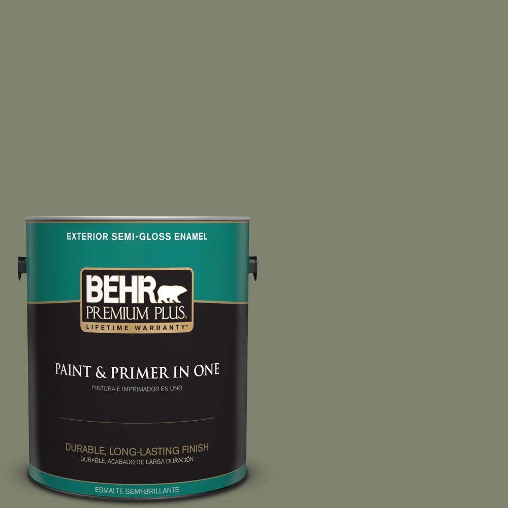 1 gal. #PPU10-18 Lizard Green Semi-Gloss Enamel Exterior Paint