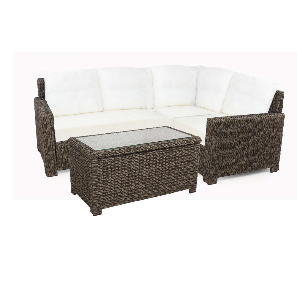 Hampton Bay Laguna Point Brown 5-Piece All-Weather Wicker...