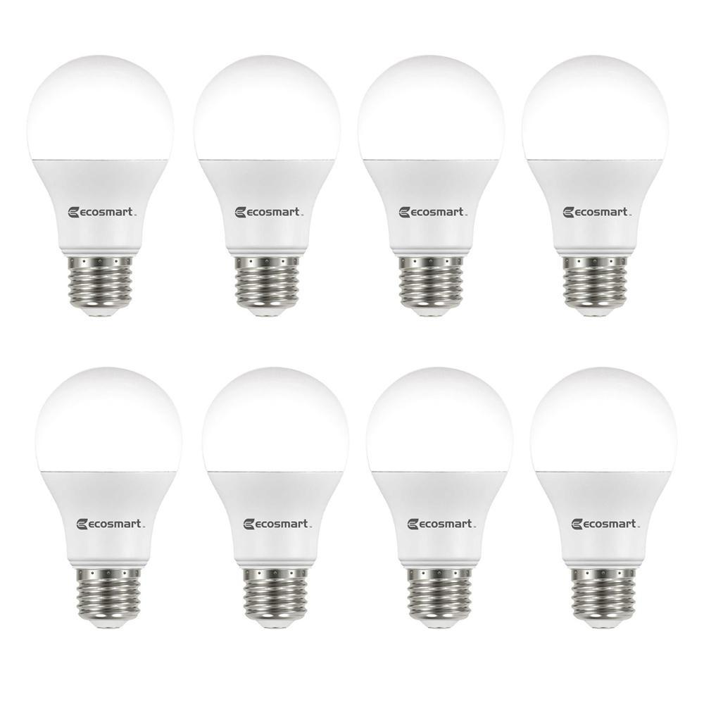 20w Led Bulb A19: EcoSmart 60-Watt Equivalent Soft White A19 Non-Dimmable