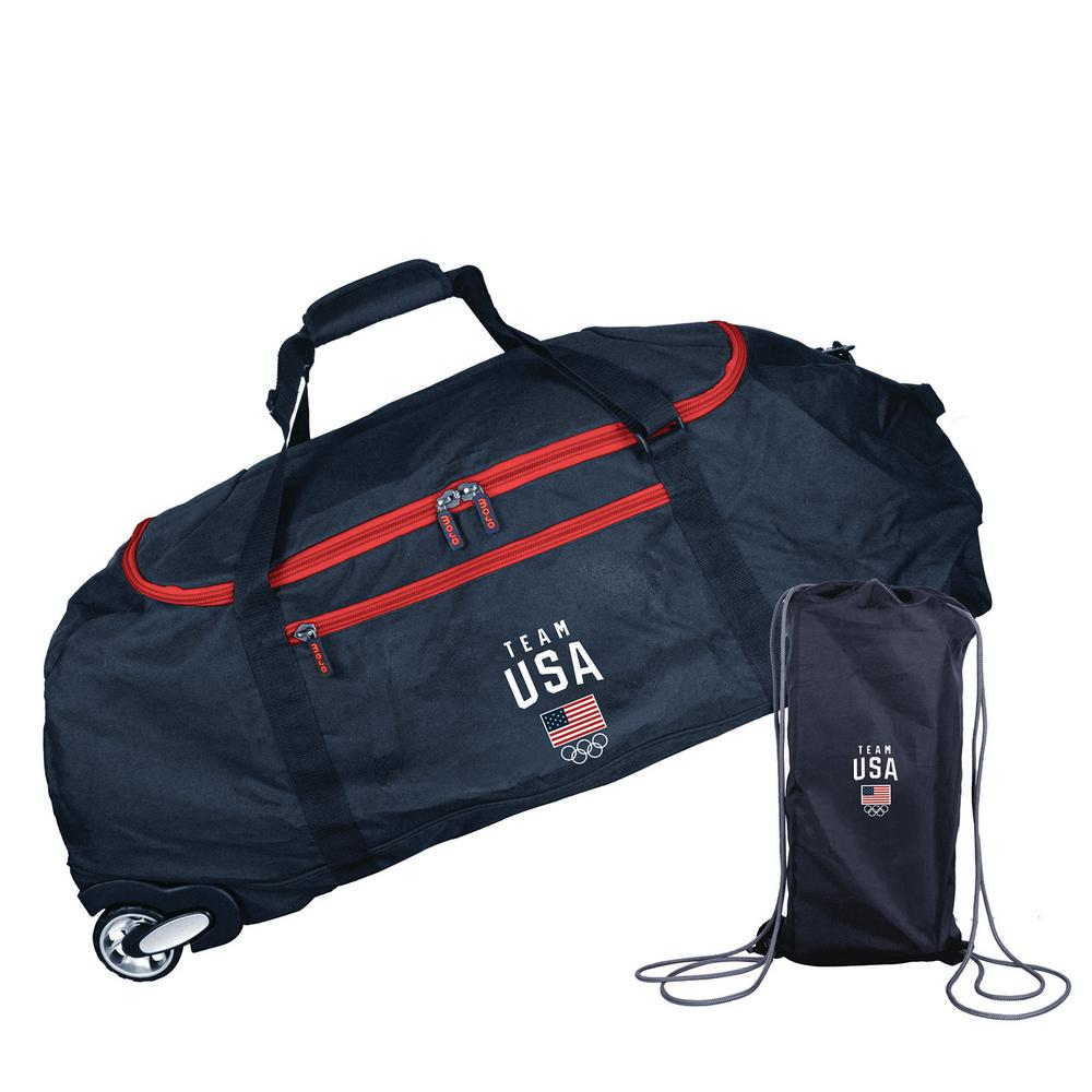 Olympics Team USA 36 in. Checked-in Rolling Duffel Bag in Black