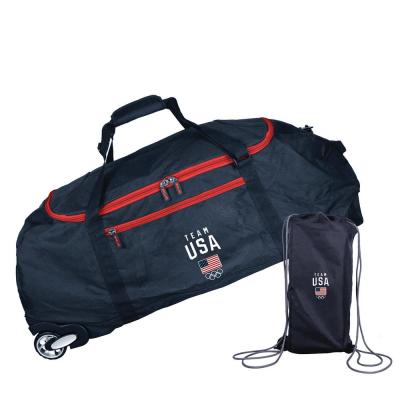 4fa1b46f2f58 Space Saver 36 in. Collapsible Rolling Duffel Bag with 3 Blade ...