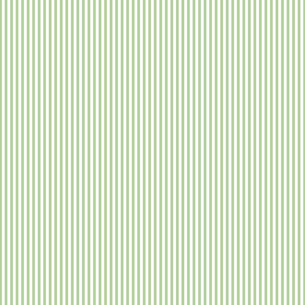 Green And White 3 Mm Stripe Wallpaper
