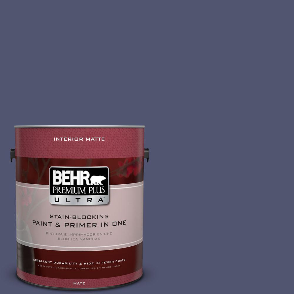 BEHR Premium Plus Ultra 1 gal. #S540-7 Bossa Nova Matte Interior Paint