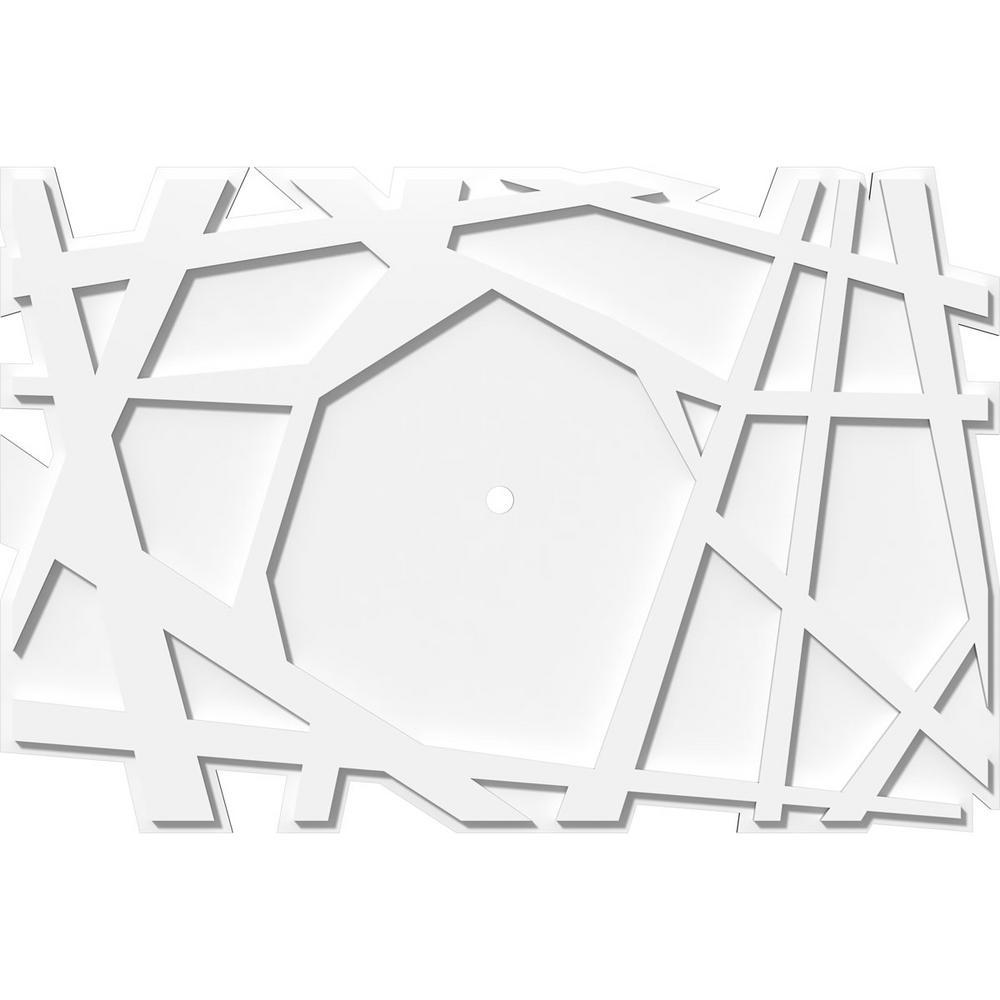 36 in. W x 24 in. H x 1 in. ID x 1 in. P Novo Architectural Grade PVC Contemporary Ceiling Medallion