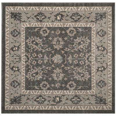 Carmel Dark Gray Beige 7 Ft X Square Area Rug