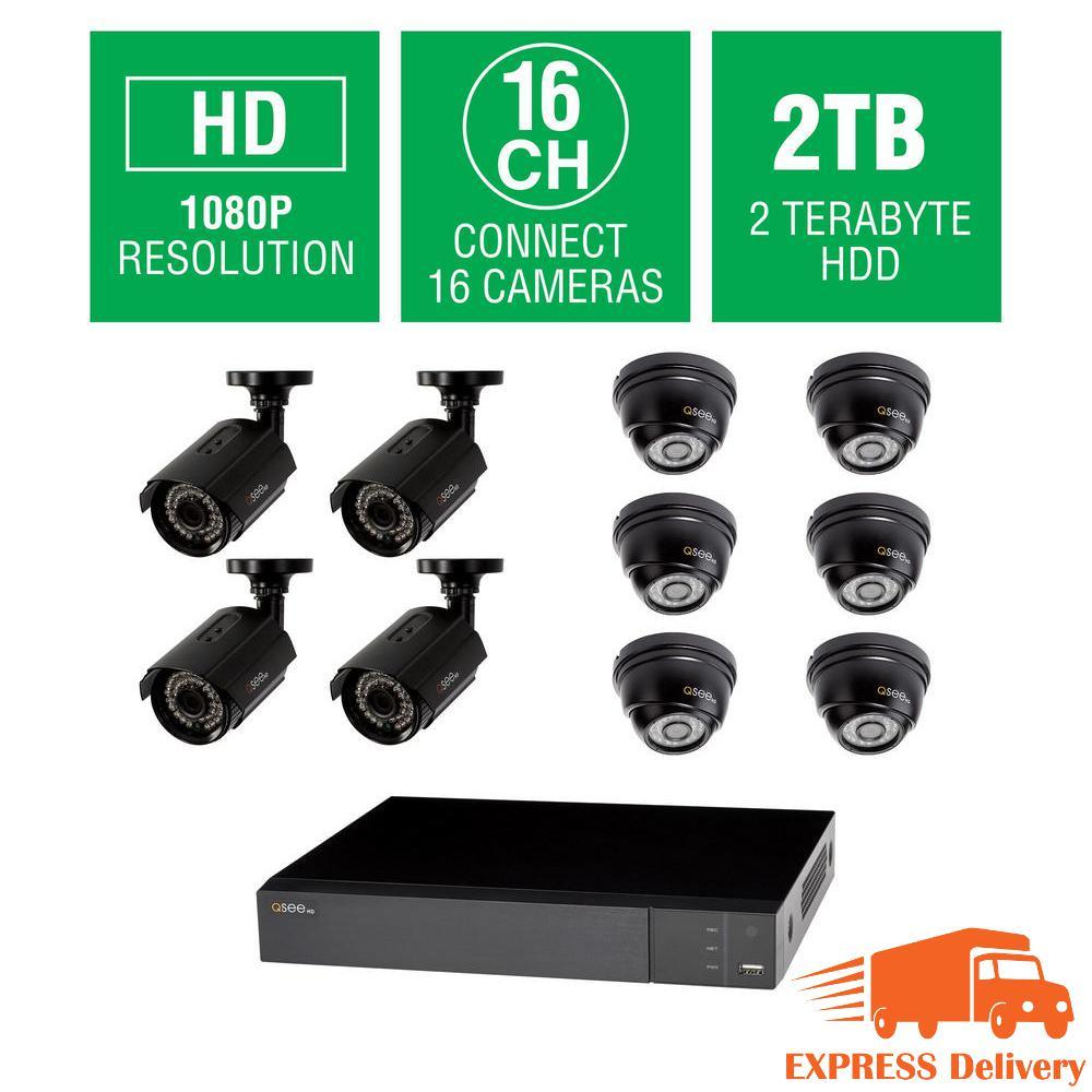 Q-SEE 16-Channel 1080p 2TB Indoor/Outdoor Surveillance DVR System ...
