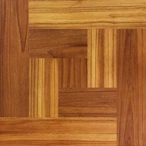 Trafficmaster Brown Wood Parquet 12 In X L And Stick Vinyl Tile Flooring 30 Sq Ft Case 65657 The Home Depot