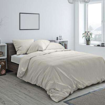 Heritage Cotton Duvet Ivory Twin