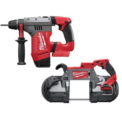 M18 FUEL 18-Volt Lithium-Ion Brushless Cordless 1-1/8 in. SDS-Plus Rotary Hammer and Bandsaw (2-Tool)