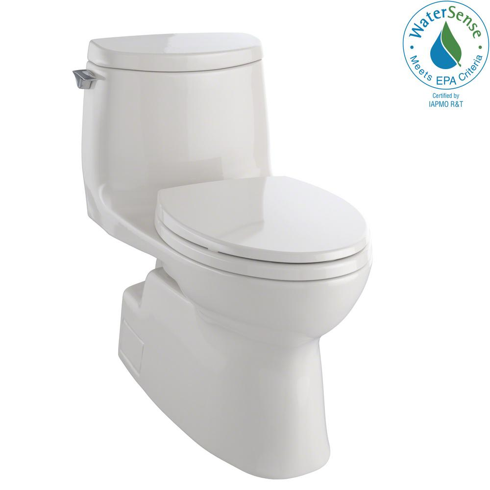 Carlyle II 1-piece 1.0 GPF Single Flush Elongated Toilet with CeFiONtect