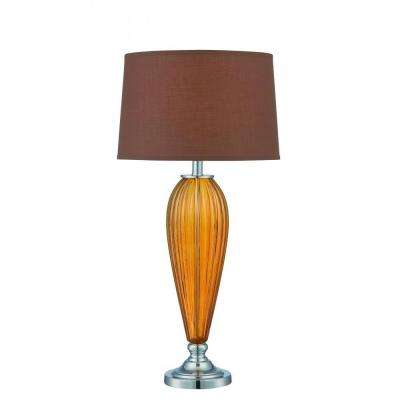 31.5 in. Polished Chrome Table Lamp