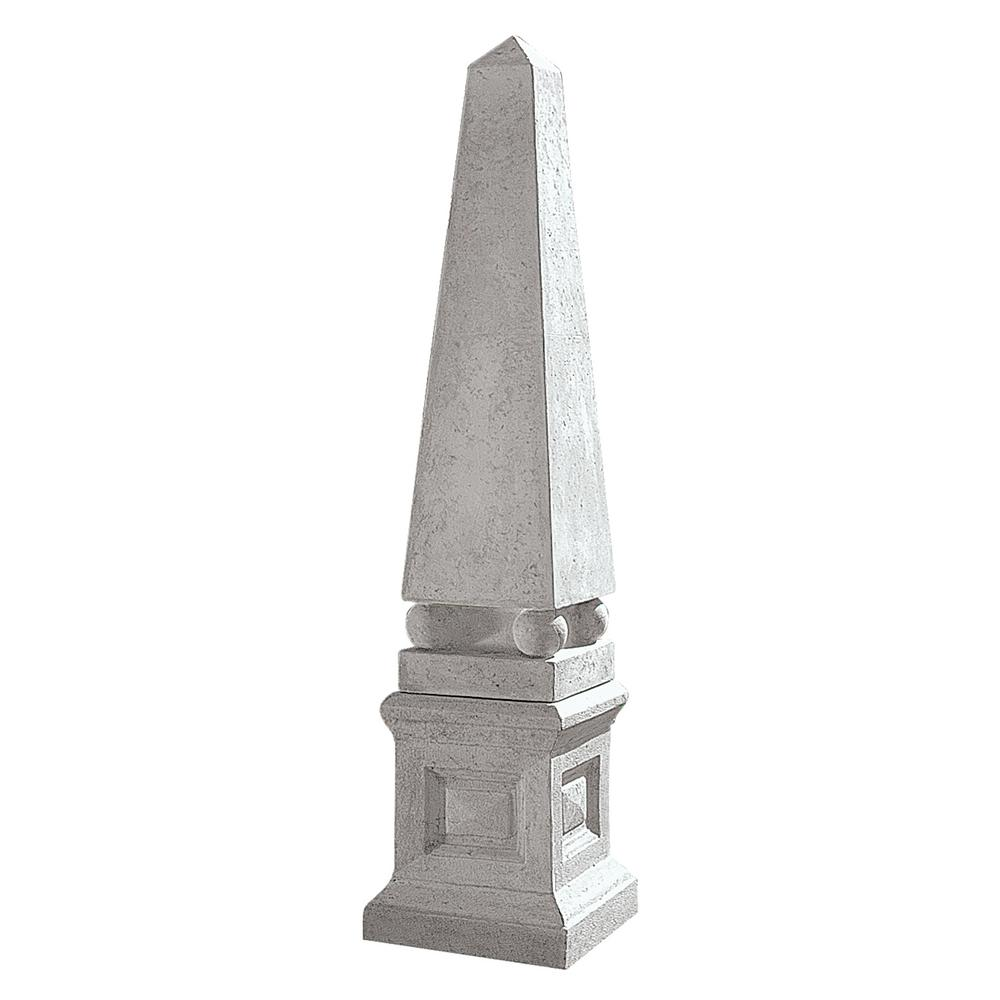 Design Toscano Grand Garden Neoclassical Obelisk Sculpture And