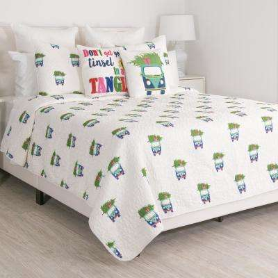 Holiday Car Multi King Quilt Set