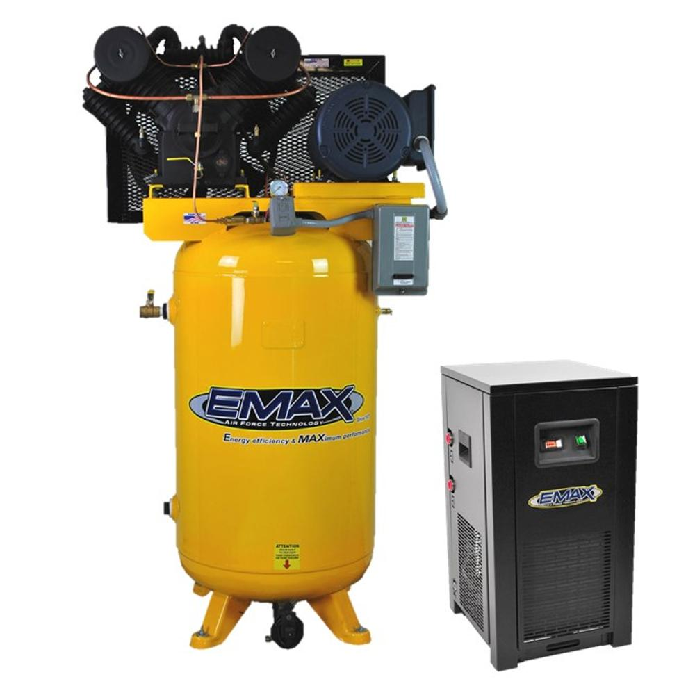Industrial PLUS Series 80 Gal. 7.5 HP 3-Phase 2-Stage Stationary Electric