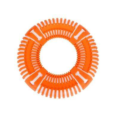 Orange Flex Bark Flexible Frisbee Extreme Outdoor Training Durable Fetch Dog Toy