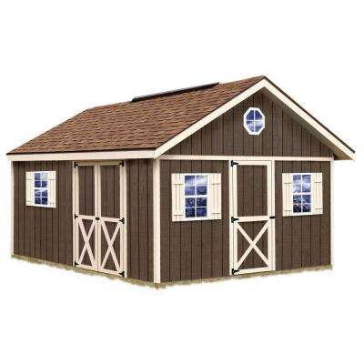 Fairview 12 ft. x 16 ft. Wood Storage Shed Kit