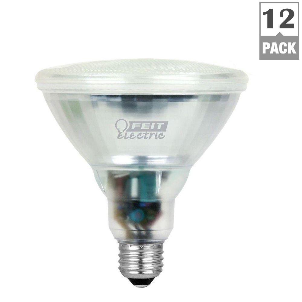 Feit Electric 90-Watt Equivalent Bright White (3500K) PAR38 CFL Flood Light Bulb (12-Pack)