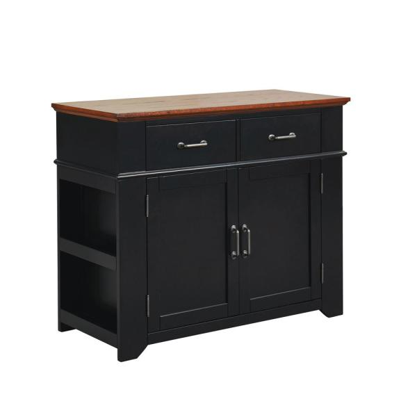 Furniture of America Milan Black and Oak Buffet with 2-Drawers IDF-AC518BK