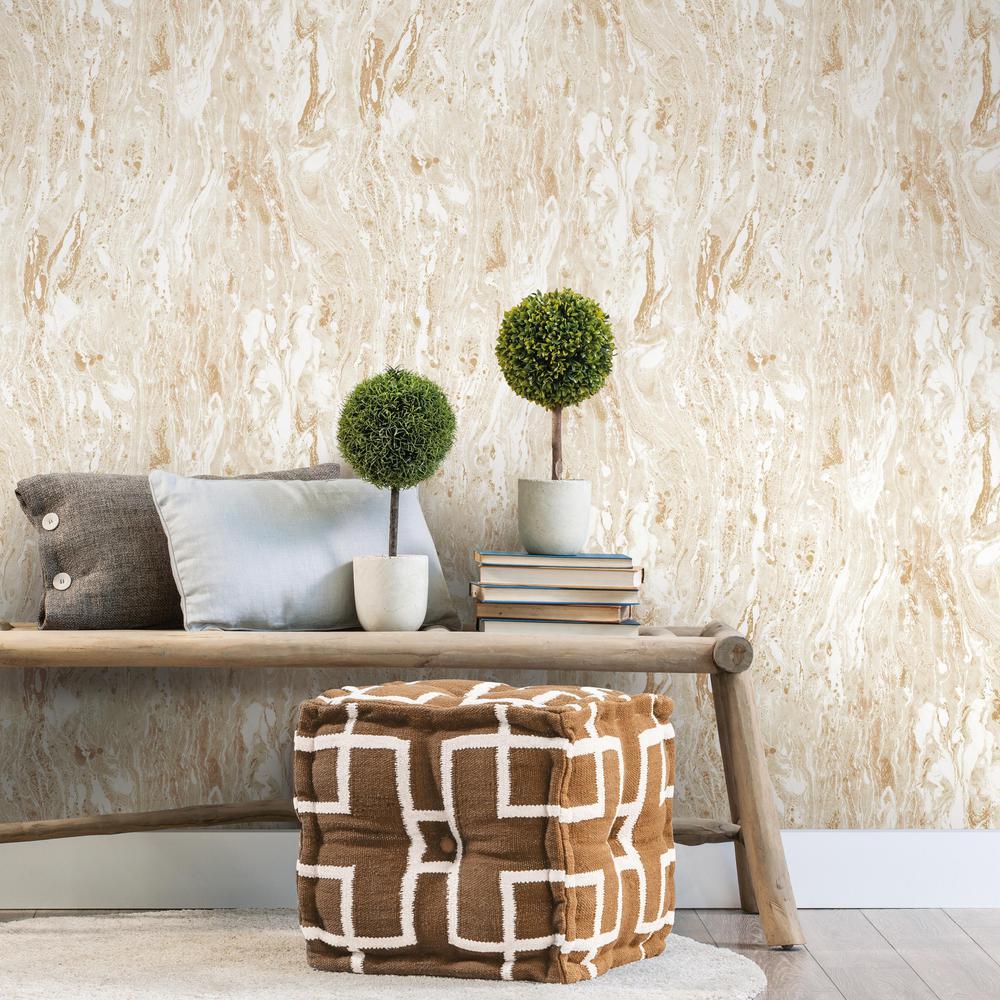 Roommates 28 29 Sq Ft Marble Seas Peel And Stick Wallpaper