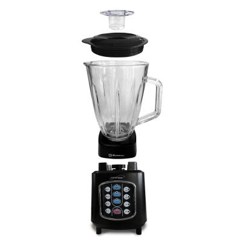 Kitchen Magic Collection 50 oz. 10-Speed Blending Programs Black Glass-Jar Blender