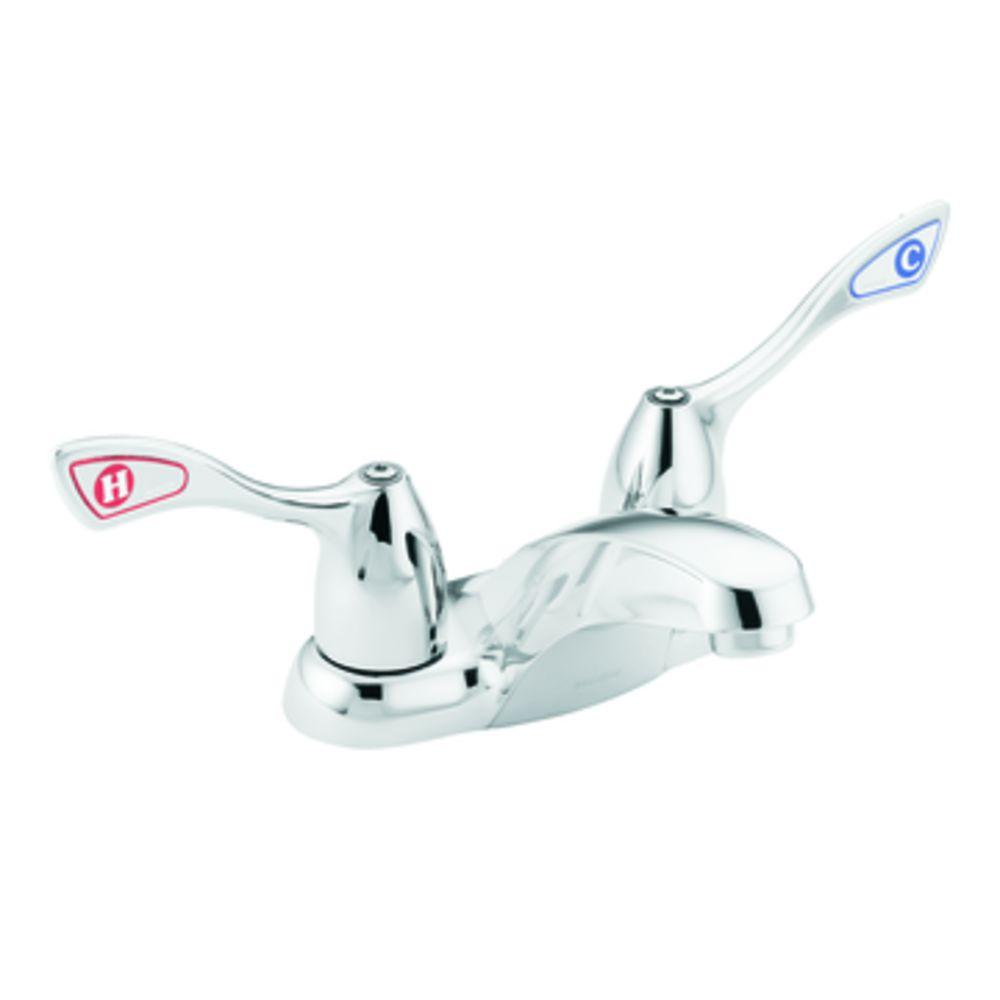 MOEN Commercial 4 in. 2-Handle High-Arc Bathroom Faucet in Chrome