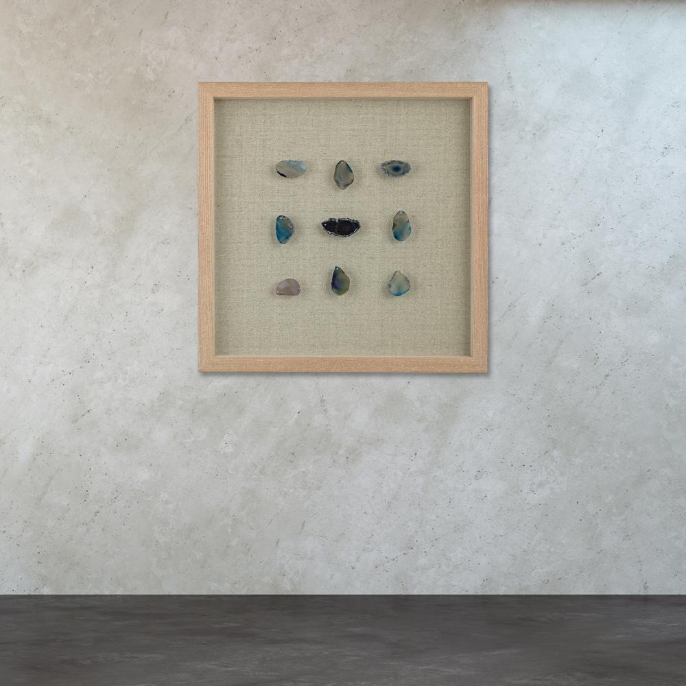 Blue Agate  Shadow Box Wall & Titan Lighting 17 in. x 17 in.