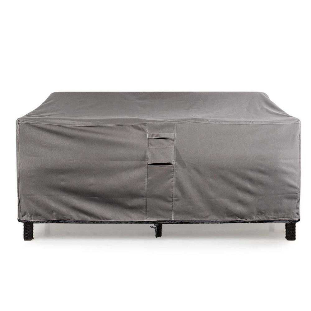 KHOMO GEAR Large Grey Love Seat  Weatherproof Outdoor Patio Sofa Protector Cover