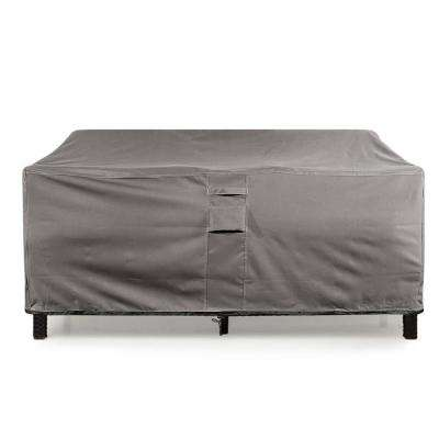 Medium Grey Love Seat Weatherproof Outdoor Patio Sofa Protector Cover