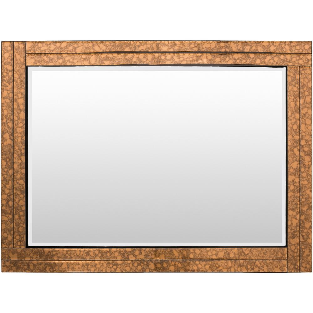 Tyrell 36 in. x 24 in. Glass Framed Mirror