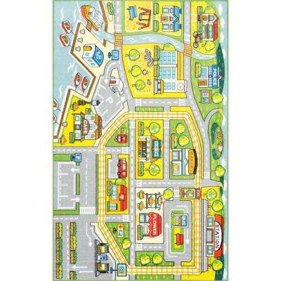 Fairytale Town Green 5 ft. x 7 ft. 5 in. Area Rug
