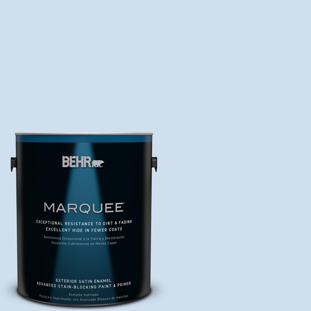 BEHR MARQUEE 1-gal. #560A-1 Pale Sky Satin Enamel Exterior Paint