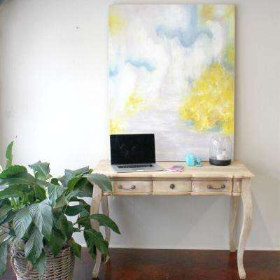 "50 in. x 40 in. x 2 in. ""Summer's Afternoon"" by Unnamed Artist Hand Painted Canvas Wall Art"
