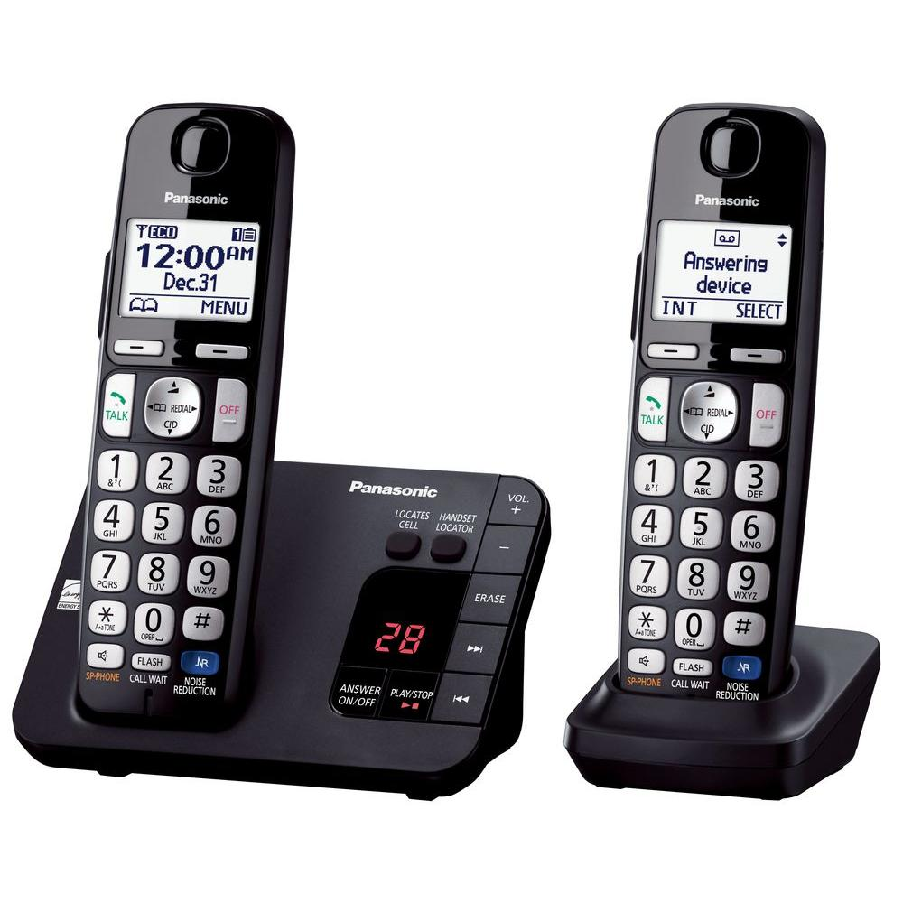 Panasonic 2-Handset Expandable Digital Cordless Answering...