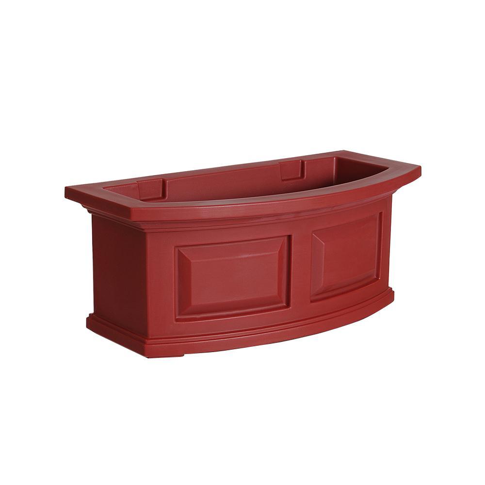 Nantucket 10 in. x 24 in. Red Polyethylene Window Box