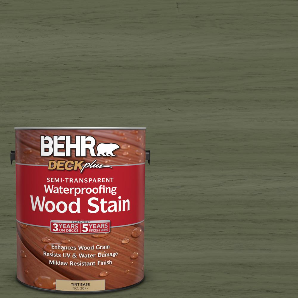 1 gal. #ST-138 Sagebrush Green Semi-Transparent Waterproofing Exterior Wood Stain