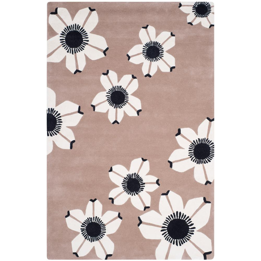 Allure Brown 5 ft. x 8 ft. Area Rug