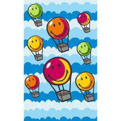 Hot Air Balloons Multi 4 ft. x 7 ft. Indoor Area Rug