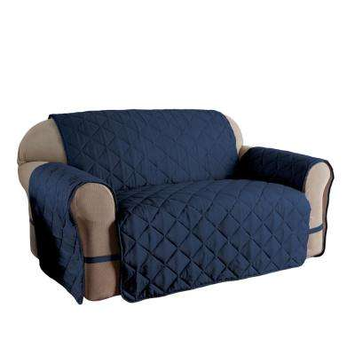 Microfiber Ultimate Solid Navy Sofa Protector