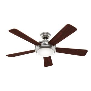 46f1349f15 Palermo 52 in. Indoor Brushed Nickel Ceiling Fan with Light Kit and Remote