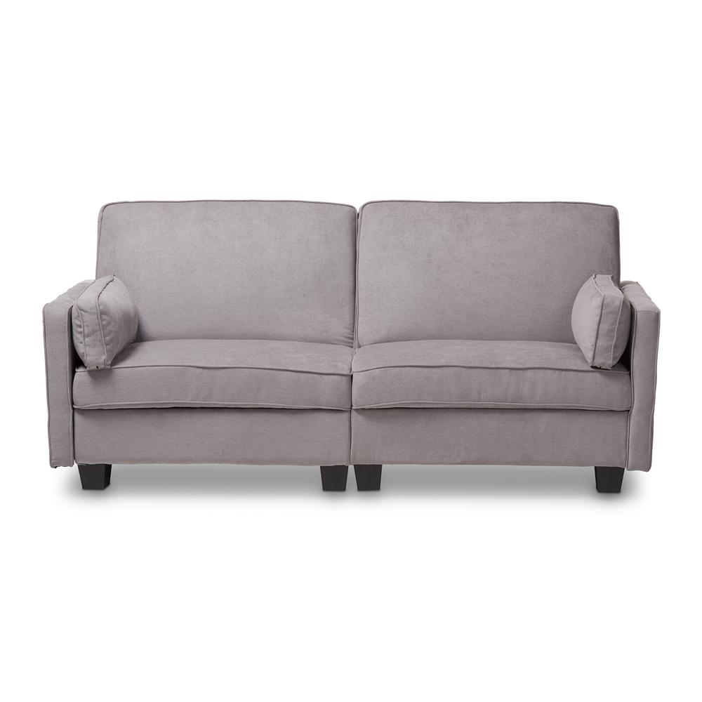 Felicity 82.7 in. Light Gray Polyester 3-Seater Twin Sleeper Sofa Bed with Square Arms